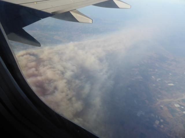 Smoke Plume from Alamo, Panasonic DMC-ZS40