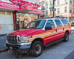FDNY Division 6 Fire Chief Vehicle, Melrose, South Bronx, New York City