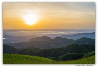 dawn on the mountains