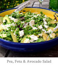Pea, Feta & Avocado Salad