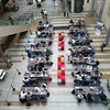 Top view of the #hackathon we organised in the #parliament building