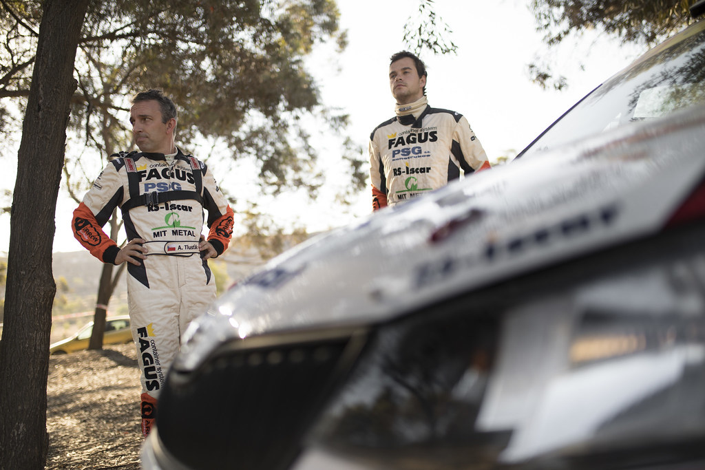 TLUSTAK Antonin (cze) and VYBIRAL Ivo (cze) BOTKA-TLUSTAK RACING SKODA FABIA R5 ambiance portrait during the 2017 European Rally Championship ERC Cyprus Rally,  from june 16 to 18  at Nicosie, Cyprus - Photo Gregory Lenormand / DPPI