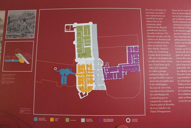 Plano - Palacio Coudenberg