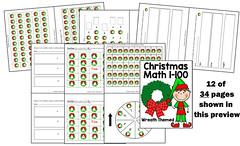 Christmas Math 1-100