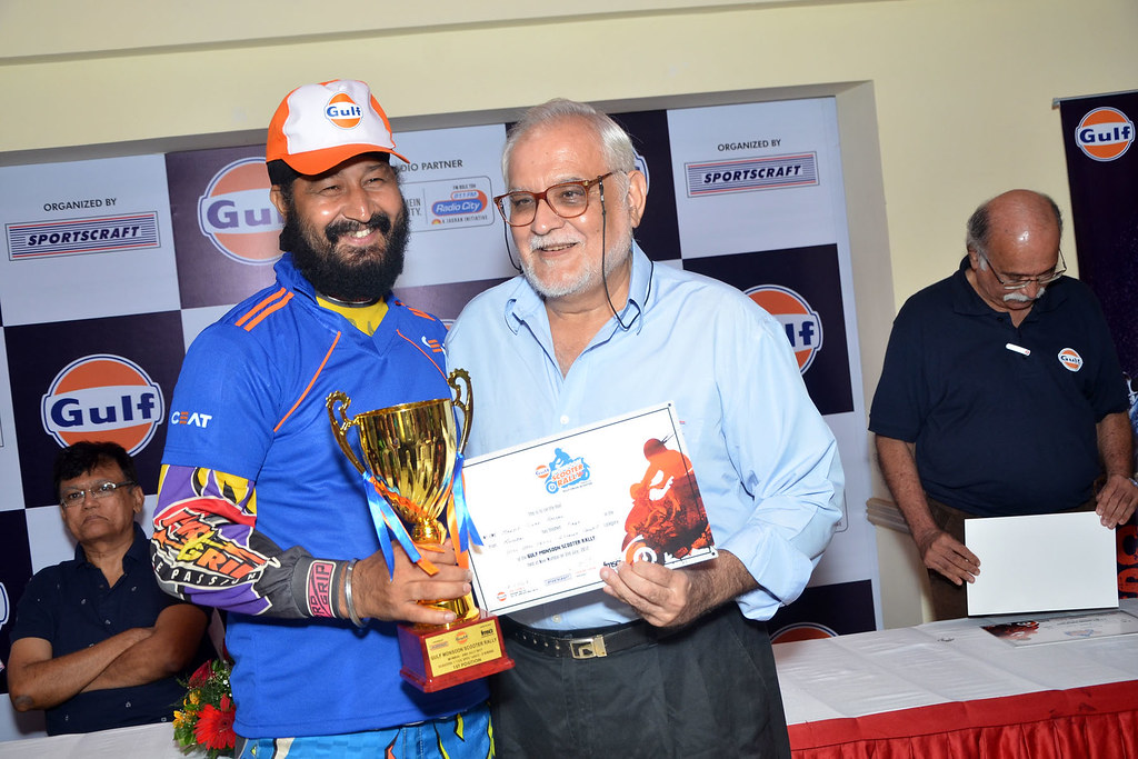 Manjit Singh of Team CEAT wins 1st position - Upto 160CC - 2 Stroke Category at Gulf Monsoon Rally 2017