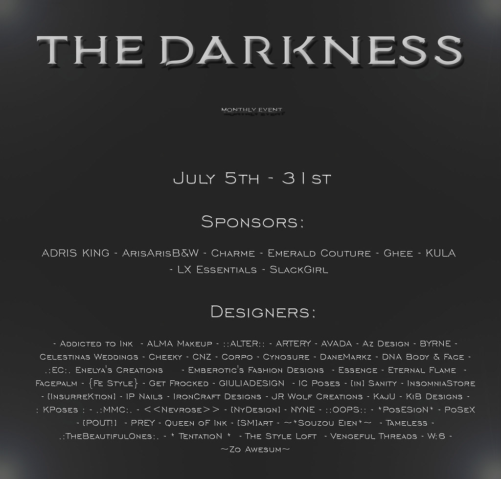 The Darkness Event July Round is now open!!