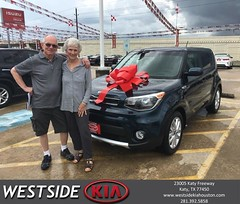 Congratulations James on your #Kia #Soul from Rick Hall at Westside Kia!