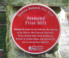 Photo of Jesmond Flint Mill red plaque