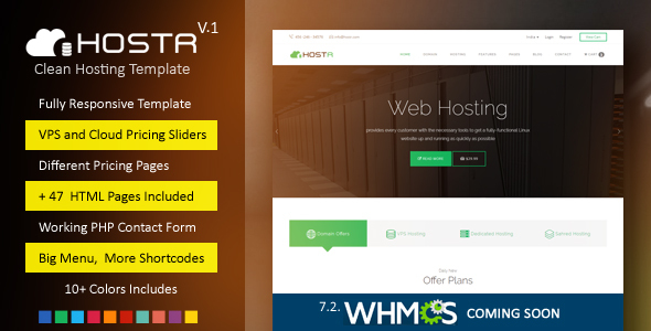 Hostr v1.0 – Awesome Clean Hosting Responsive Template