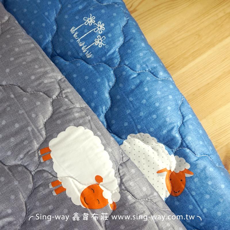 【限宅配】 睡夢棉羊 羊咩咩 動物 精梳棉鋪棉床品床單布料 B990091