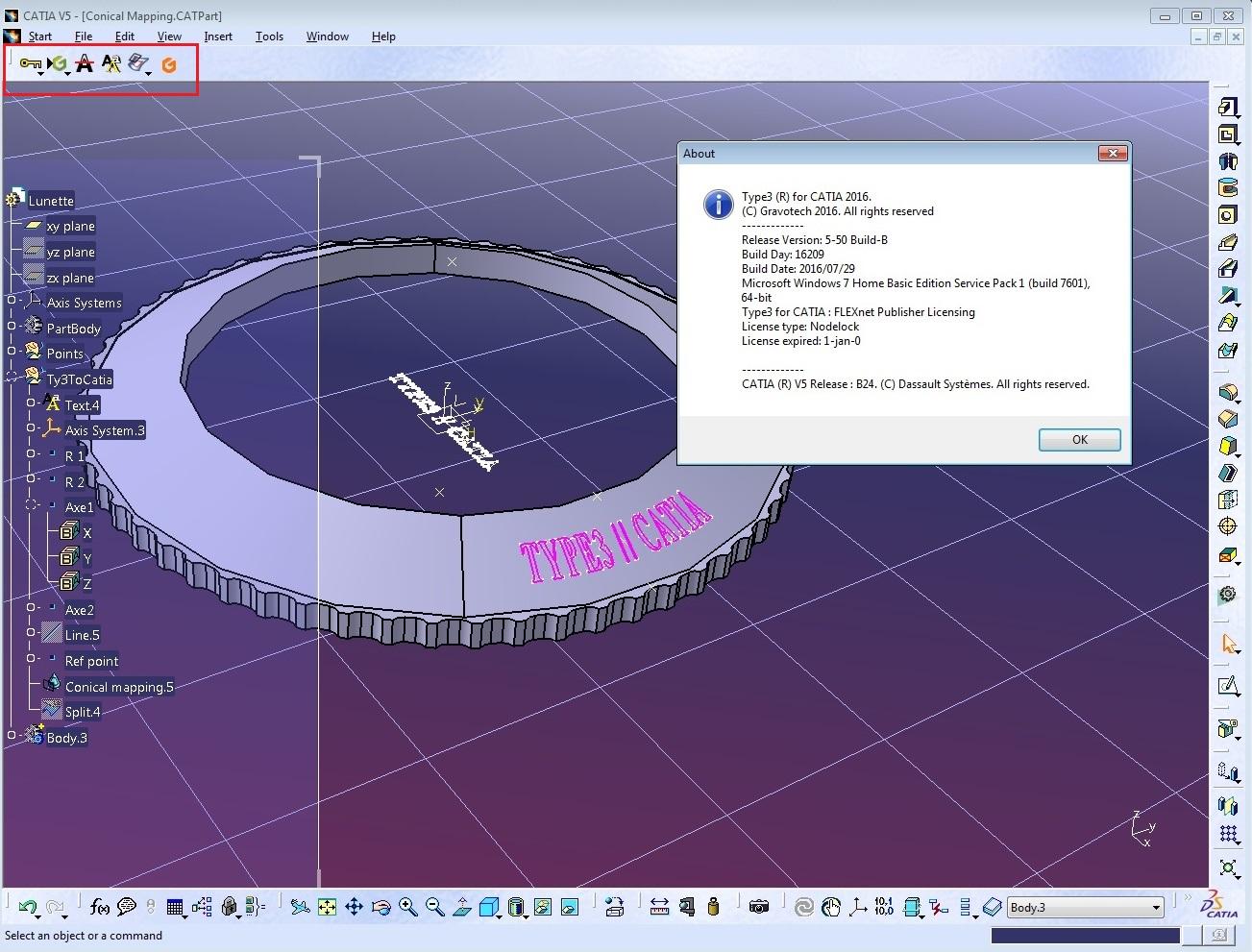 Design with Type3 CAA V5 Based v5.5B for CATIA V5R18-R25 x64 full