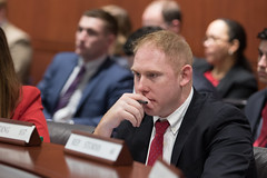 Rep. Harding listens to testimony during a Judiciary Committee meeting.
