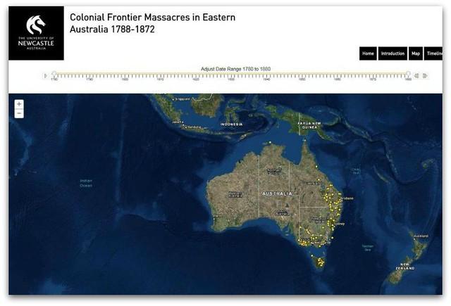 Frontier Massacres Map