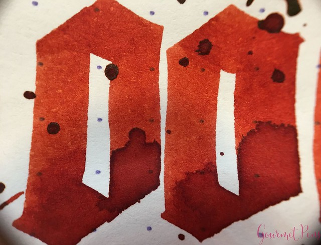 Ink Shot Review Diamine Anniversary Blood Orange @AppelboomLaren 10