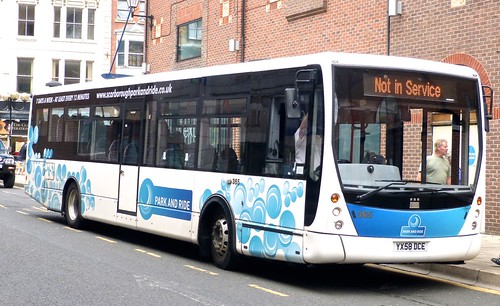 YX58 DCE 'East Yorkshire Motor Services' No. 365 'Park and  Ride' Volvo B7RLE / Plaxton Centro on 'Dennis Basford's railsroadsrunways.blogspot.co.uk'