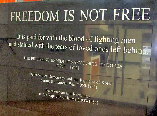 1. PEFTOK slogan_Freedom is not Free inside the Museum