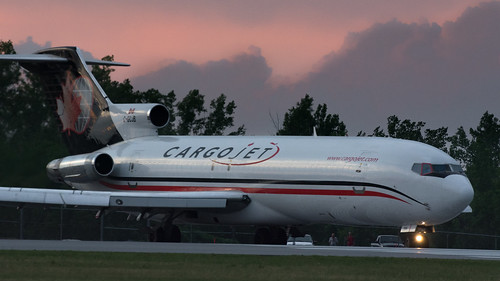 ottawa ontario canada nikond7100 nikon d7100 airplane plane airliner airline aircraft aviation cargo cargojet classic classicairliner boeing 727 722 727200 b727 b722 b727200 cgcjb taxi taxiing taxiway runway takeoff climbout departure bensenior planespotting sun sunset orange dusk glow light cloud red freighter freight 3engines trijet jt8d