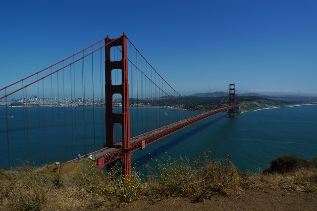 Golden Gate Bridge - As seen from Marin County, California