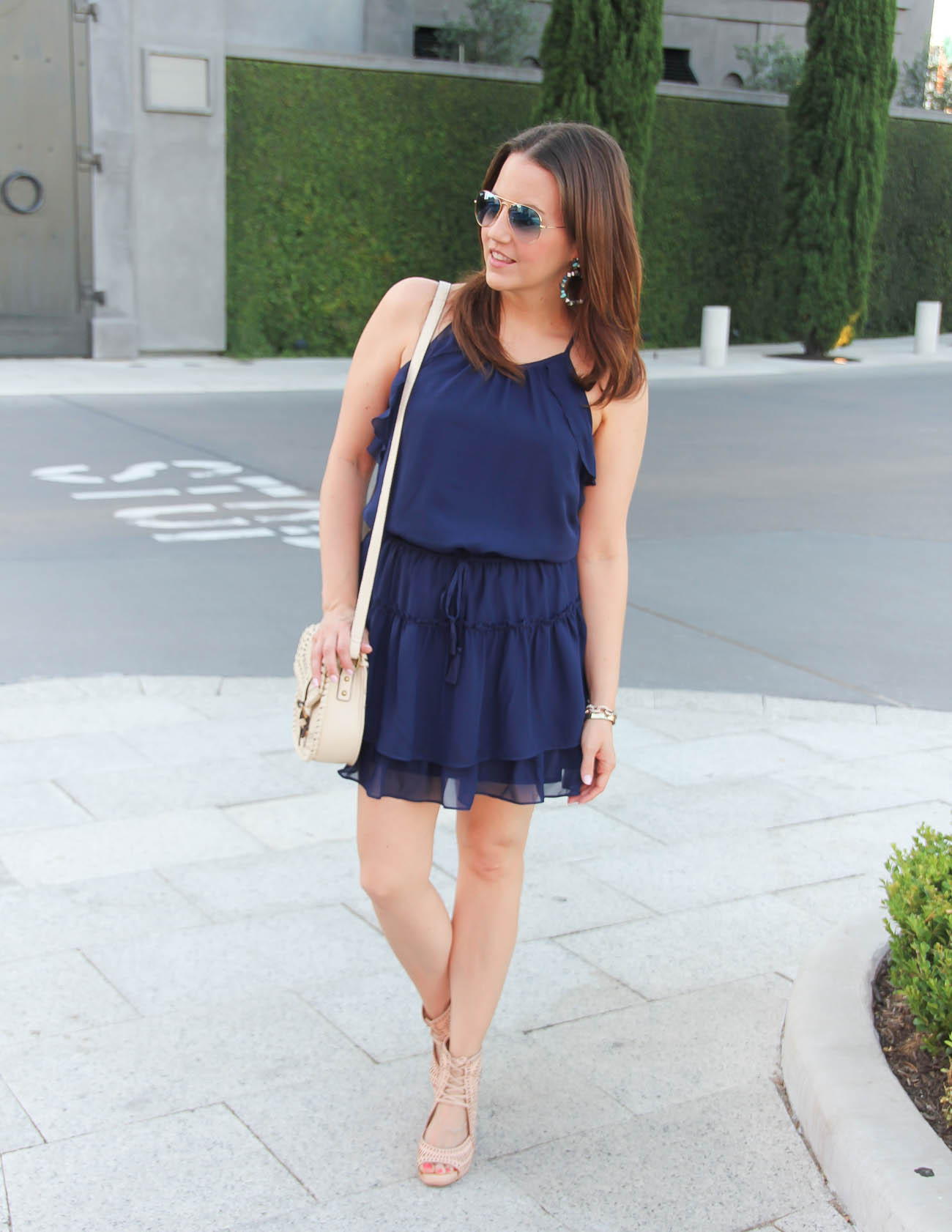 a-summer-outfit-navy-dress-laceup-wedges