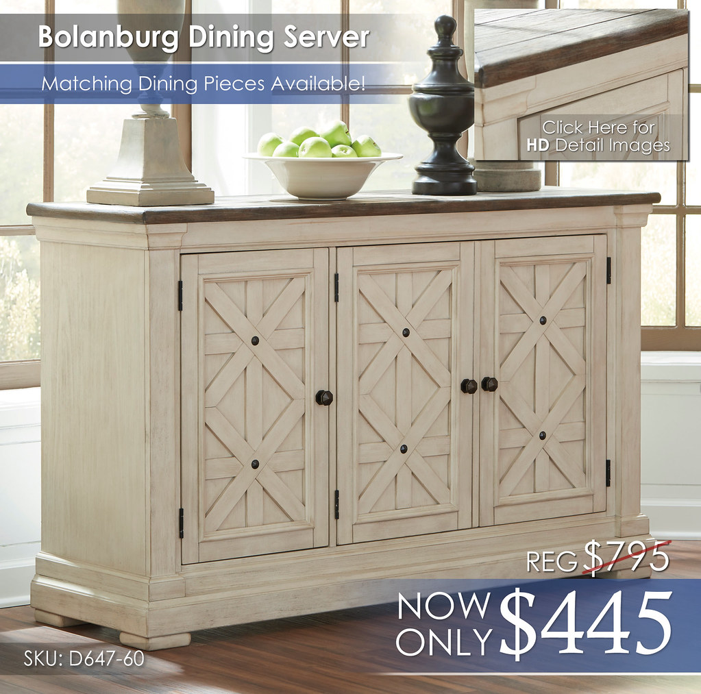 Bolanburg Dining Server wInsert