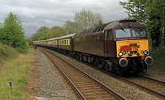 57316 approaches Henley in Arden WCR 06-05-2017