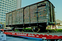 Holocaust Box Car delivered to St. Petersburg, FL (4 of 5)