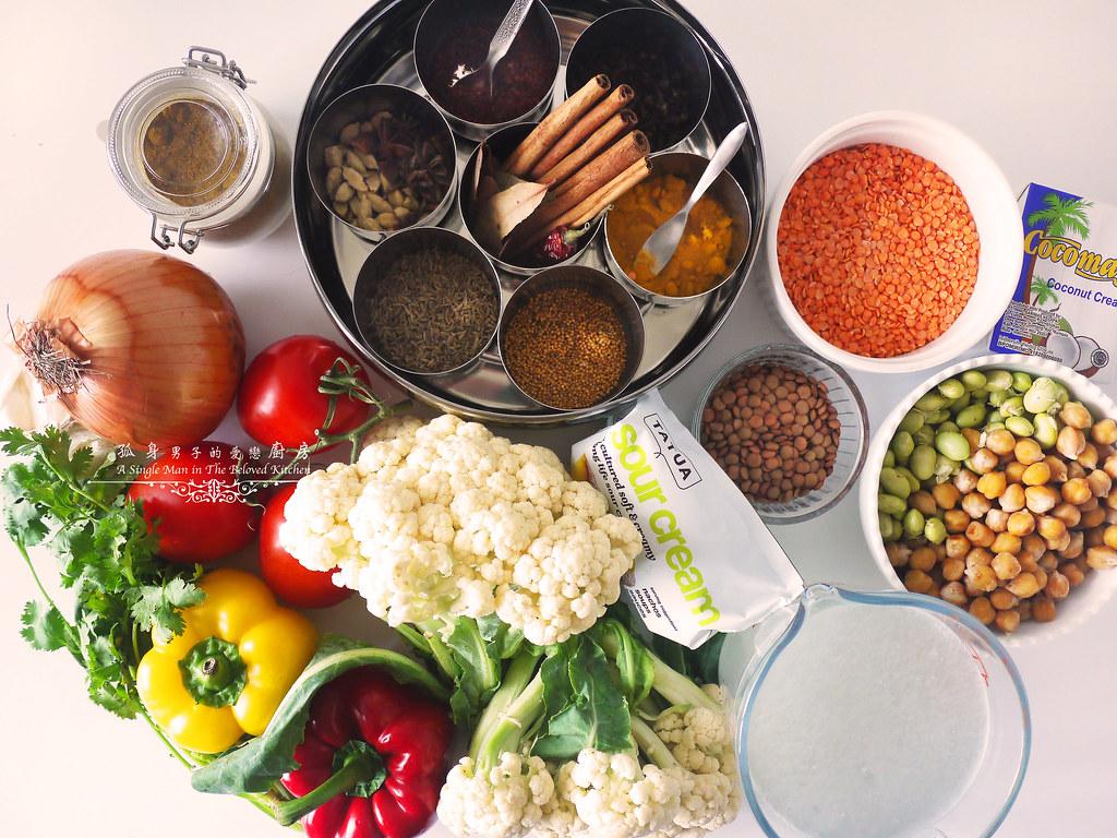 孤身廚房-Staub媽咪鍋煮超滿的印度蔬食花椰菜咖哩2