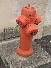 Rue Saint-Dominique and Rue du Trop Chaud, Flavigny-sur-Ozerain - fire hydrant - Photo of Boux-sous-Salmaise