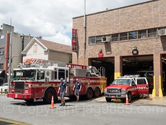 FDNY Firehouse Engine 50, Ladder 19 and Battalion 26, Morrisania, Bronx, New York City