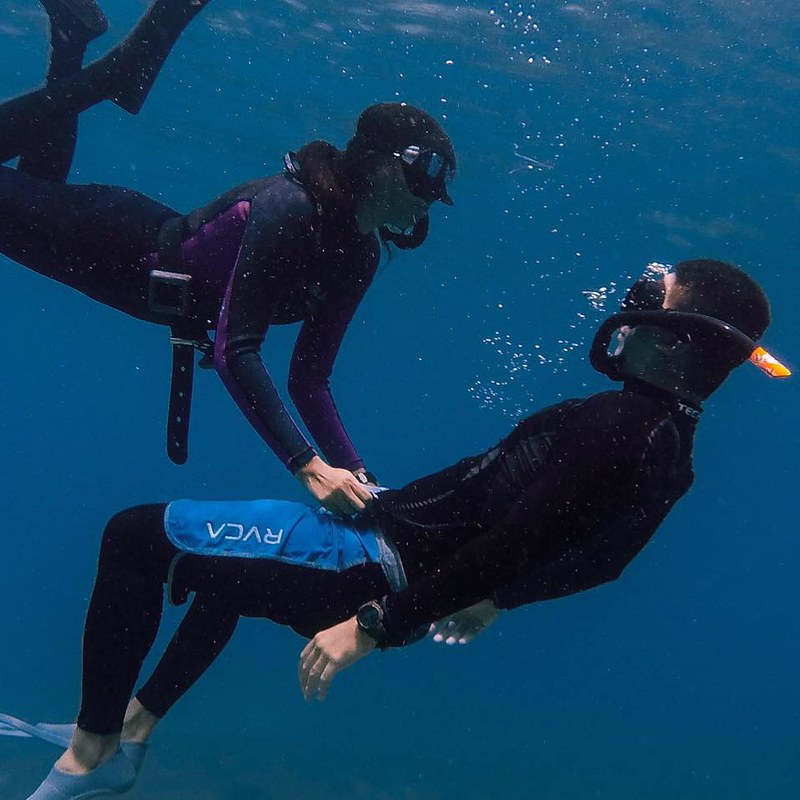 Free Diver Couple