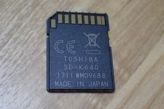 64GBのSDカード。