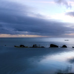 31. Mai 2017 - 15:34 - Sunset from the Infinity pool area at Pacific Resort, Aitutaki