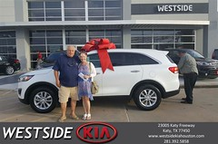 Happy Anniversary to Jamie on your #Kia #Sorento from Rubel Chowdhury at Westside Kia!