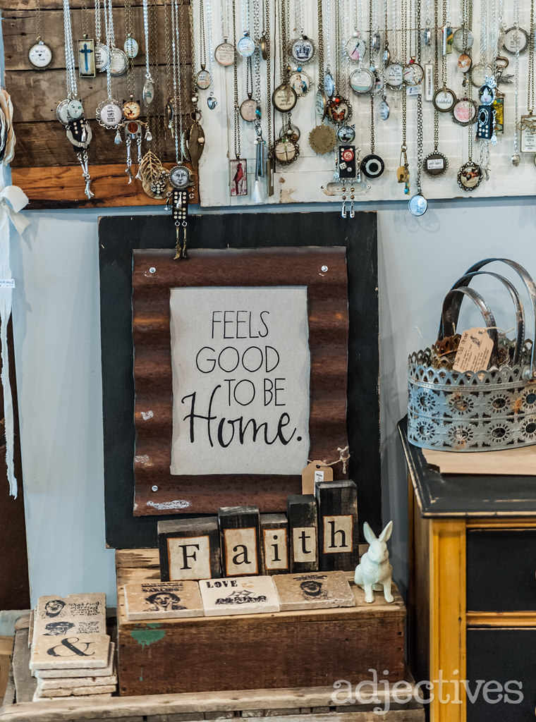 handmade Feels Good to be Home sign by The Old Crow at Adjectives Winter Park