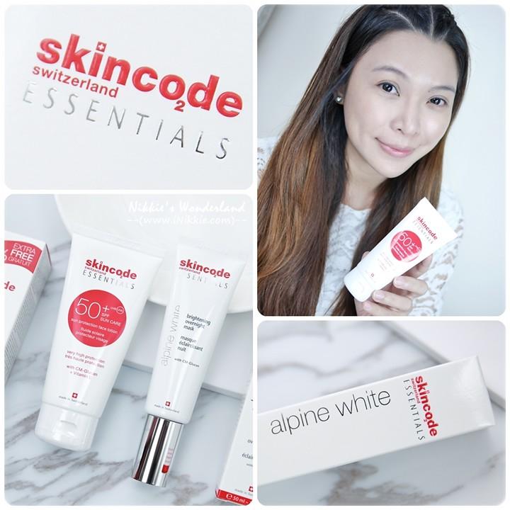 skincode 阿爾卑斯淨白無瑕晚安面膜 + 全時防禦UV保濕隔離乳
