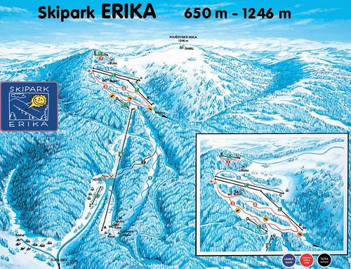 Kojšovská hoľa - mapa sjezdovek