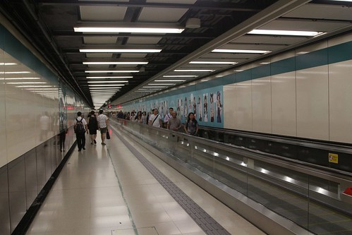 Moving walkways in the corridor linking East Tsim Sha Tsui and Tsim Sha Tsui stations