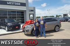 Happy Anniversary to Erick on your #Kia #Sorento from Antonio Page at Westside Kia!