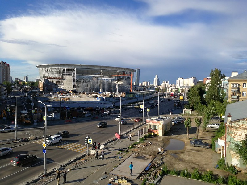 Budowa stadionu w Jekaterynburgu na potrzeby Mistrzostw Świata w Piłce Nożnej w 2018 roku