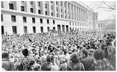 Thousands sit-in at the Justice Department: 1971