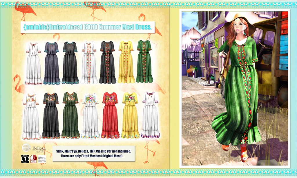 {amiable}Embroidered Pattern Boho Summer Maxi Dress at the Chpter Four(50%OFF SALE). - SecondLifeHub.com