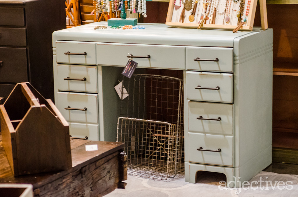 Vintage desk and chest of drawers by Anna Phillips Designs in Adjectives Altamonte