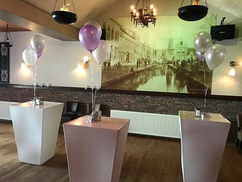 Tafeldecoratie 3ballonnen Zaal Beatrix Schiedam