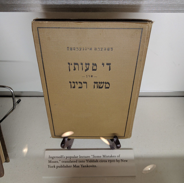 """Some Mistakes of Moses"" translated into Yiddish"