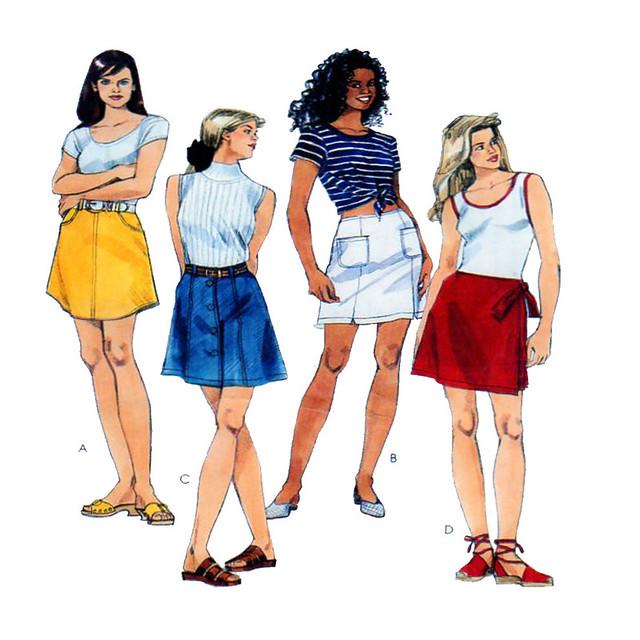 McCalls 7597 short skirt pattern