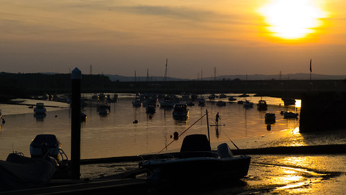 Rive Exe, Topsham, just before sunset