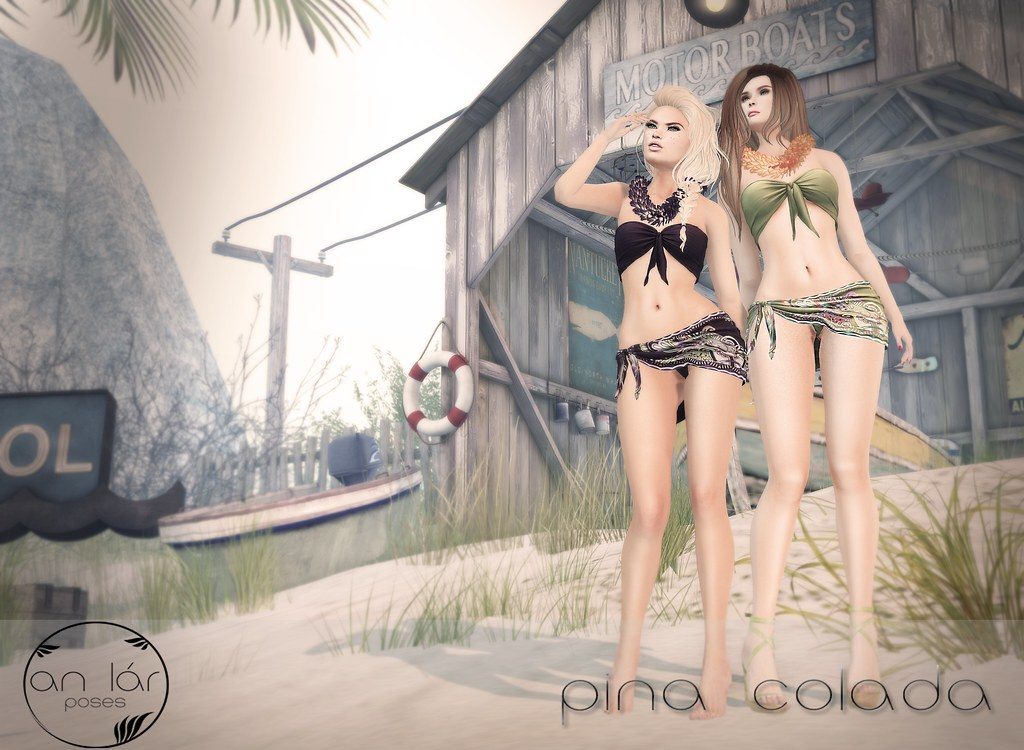 an lár poses Pina Colada - SecondLifeHub.com