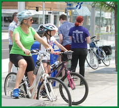cyclists at Open Streets UpTown Waterloo