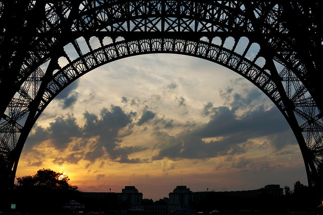 Sunset under Eiffel tower, Sony NEX-6, Sony E 18-50mm F4-5.6