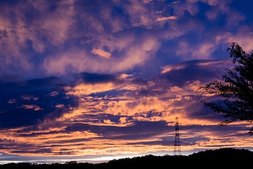 machida japan tokyo wire electrical sunset